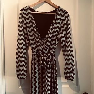 chevron || maxi dress NWOT